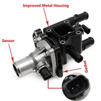 1 8l engine coolant thermostat housing for 2012-2015 chevrolet sonic  2013-2015 chevrolet trax 2013-2015 chevrolet tracker 2011-2015 chevrolet  cruze replace